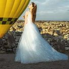 Enn by Olivia Bottega Lace Bodice A Line Wedding Dress   Wedding Dress   Lace Bodice Dress   Glittered Wedding Dress   Wedding Gown