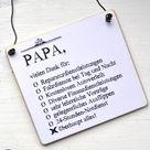 Read the full title Holzschild PAPA Vielen Dank zum Vatertag