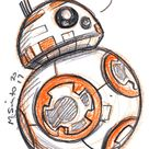 Droid sketch cards