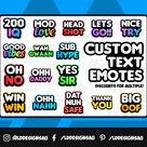 Custom Twitch Emotes | Twitch Text Emotes | Twitch Emote | Personalized Twitch Emote