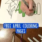 Free April coloring pages