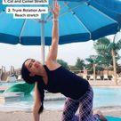 Beginner Yoga flow for tight Upper Back and shoulders