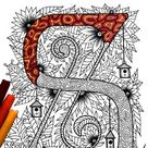 26 Uppercase Letter Coloring Pages - Inspired by the font