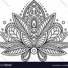 Persian or turkish paisley flower vector image on VectorStock