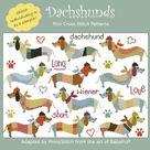 Dachshunds Cross Stitch PDF chart   Etsy