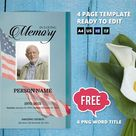 MILITARY ARMY| Funeral Program Template, Obituary Program, Memorial Program Template, Microsoft Word & Publisher Template