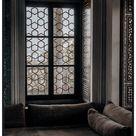 Orientaliskt fönster - 21x30 / svart