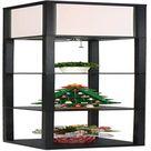 Latitude Run® Tall Shelf Floor Lamp - Standing Led Lamp w/ Display Shelves, Wooden Frame Light w/ White Linen Shade For Living Room Bedroom | Wayfair
