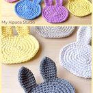 Bunny Coaster Crochet Pattern