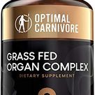 Grass Fed Organ Complex, Desiccated Beef Organs - Beef Liver, Brain, Heart, Thymus, Kidney, Spleen, Intestines, Pancreas, Lung, Ancestral Formula (180 Capsules) by Optimal Carnivore - 180 Count (Pack of 1)