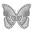 Ornament schöne Karte mit Schmetterling. Geometrisches Element im Vektor