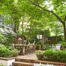 This Country Chic Townhouse Has One of the Most Gorgeous Gardens We've Ever Seen