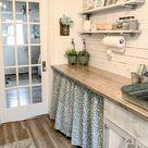 1 Pair of Cotton Stem Curtains, Kitchen Decor, Bedroom Decor, Vintage, Window Treatments, Bohemian D