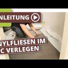 Vinylboden Bad Dusche - problemlos verlegen