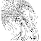 Phoenix B/W by kissy-face on DeviantArt
