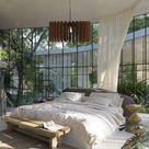 Bedroom Ceiling Mid Century Chandelier, Scandinavian Contemporary Wood Pendant Hanging Light Shade