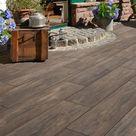 Beton+Keramik Verbundplatte von KANN für dauerhafte Holzoptik auf Terrassen