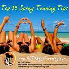 Spray Tan Tips