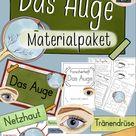 Das Auge - Materialpaket mit Forscherheft & Bildkarten