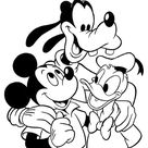 Mickey, Donald and Goofy coloring page | Free Printable Coloring Pages