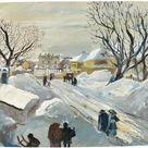 Schloss Hetzendorf im Winter | Kovacek - Galerie für Glas und Gemälde