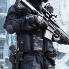 dope tech wear outfit with gun