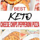Keto Chips – BEST Low Carb Pepperoni Pizza Cheese Chip Recipe {Easy – Homemade}
