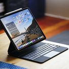 The Magic Keyboard turns the iPad Pro into something that resembles a laptop