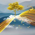 4.86US $ 30% OFF Moderne Abstrakte Gelb Landschaft Kunst Leinwand Gemälde Wand Kunst Bilder für Wohnzimmer Decor (Kein Rahmen) Painting & Calligraphy    - AliExpress