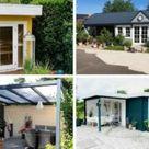 Gartenhaus Erki-44: ein schwedenroter Traum im Kleingarten