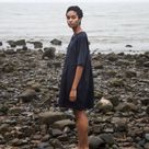 Anny Organic Cotton Dress In Navy - Navy / Small