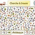 Cherche & trouve des animaux / Jeu gratuit enfant à imprimer