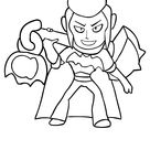 Mortis from Brawl Stars coloring page
