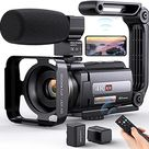 4K Video Camera Camcorder, Aepannay 48MP 60FPS WiFi Vlogging Camera with IR Night Vision Touc...