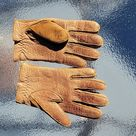 Leathersuede Brown Gloves Size Small | Color: Brown | Size: Sm