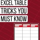 20+ Excel Table tricks to turbo charge your data   PakAccountants.com