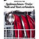Spülmaschinen-Tricks: So verhinderst du Kalk- und Rostflecken auf Gläsern und Besteck