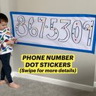 PHONE NUMBER DOT STICKERS