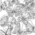 coloriage adulte art therapie papillons à colorier