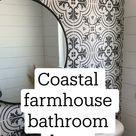 Coastal farmhouse bathroom decor