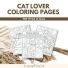 Kitten Coloring Pages 21 Printable Kitten Coloring Pages for , Etsy