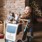 Loopwagentje Vrachtauto - beige, Speelgoed