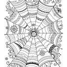 coloriage halloween  toile d'araignée à colorier