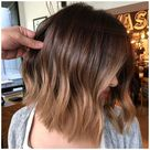 short hair balayage caramel