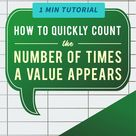 Excel Tips?How to count the number of times a value appear COUNTIF