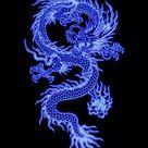 Wallpaper neon dragon