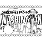 State of Washington Coloring Pages - Washington tradition and culture coloring pages