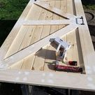 How To Build A Sliding Barn Door For Less - The Honeycomb Home