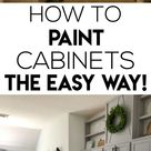 How To Easily Paint Kitchen Cabinet!