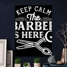 Metal Poster Barber Is Here